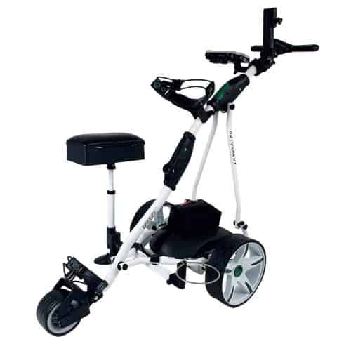 Autocaddy Breeze white lithium electric golf buggy